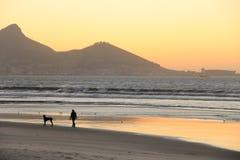 Tramonto a Cape Town Fotografia Stock