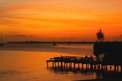 Tramonto caraibico Fotografie Stock Libere da Diritti