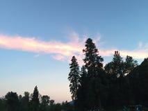 Tramonto che riflette sulle nuvole Fotografia Stock Libera da Diritti