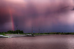 Tramonto Cloudscape Immagine Stock