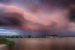 Tramonto Cloudscape Fotografie Stock Libere da Diritti
