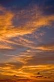 Tramonto Cloudscape di alba fotografia stock libera da diritti