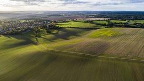 Tramonto a Codicote in Hertfordshire Inghilterra fotografia stock libera da diritti