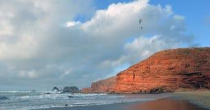 Spiaggia dell'aliante Fotografie Stock Libere da Diritti