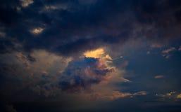 Tramonto con le nubi Fotografia Stock Libera da Diritti