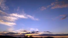 Tramonto con le nubi Fotografia Stock