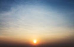 Tramonto con le nuvole Fotografie Stock