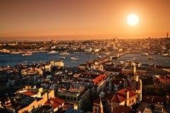 Tramonto Costantinopoli Fotografia Stock Libera da Diritti