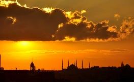 Tramonto a Costantinopoli Immagini Stock