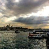 Tramonto a Costantinopoli Fotografia Stock Libera da Diritti
