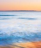 Tramonto costiero di California Fotografie Stock