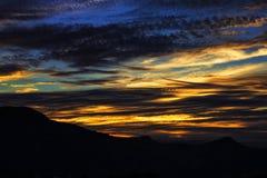 Tramonto, coucher du soleil - nature magique photos stock