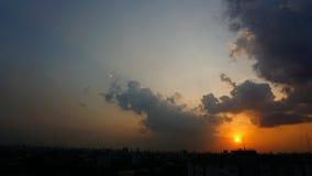 Tramonto crepuscolare ed ombra del cielo Fotografia Stock Libera da Diritti
