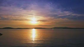Tramonto croato della costa Fotografia Stock Libera da Diritti