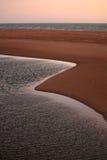 Tramonto Curvy in Australia ad ovest immagini stock