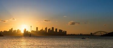 Tramonto da Sydney Fotografia Stock Libera da Diritti