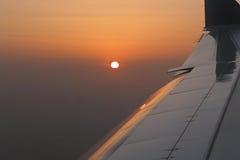 Tramonto dal cielo Fotografia Stock Libera da Diritti