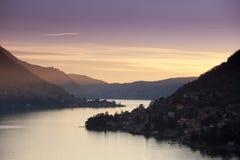 Tramonto del al de Lago Imágenes de archivo libres de regalías