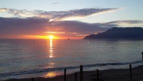 tramonto del al del colori Foto de archivo libre de regalías