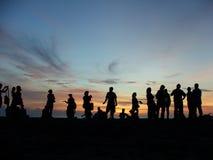 Tramonto del Bali Fotografia Stock