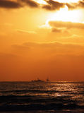 Tramonto del blu marino Fotografie Stock