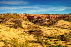 Tramonto del canyon Immagini Stock