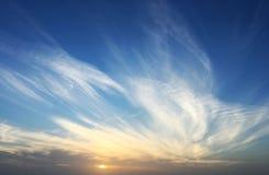 Tramonto del cielo Fotografie Stock