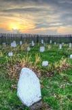 Tramonto del cimitero di Hensley, parco nazionale del Cumberland Gap Immagine Stock