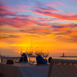 Tramonto del de Andratx del porto di Mallorca in Mallorca immagine stock