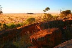 Tramonto del deserto Immagini Stock