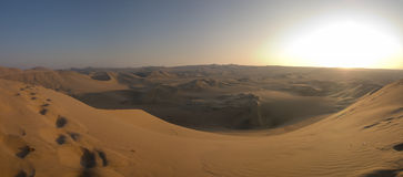 Tramonto del deserto fotografie stock libere da diritti
