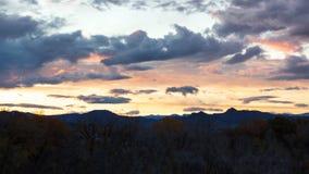 Tramonto del deserto della montagna fotografia stock
