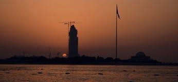 Tramonto del Dubai Fotografia Stock Libera da Diritti