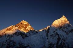 Tramonto del Everest Immagini Stock Libere da Diritti