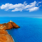 Tramonto del faro di Almeria Cabo de Gata in Spagna Fotografie Stock Libere da Diritti