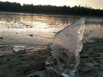 Tramonto del ghiaccio Fotografia Stock Libera da Diritti