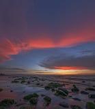 Tramonto del golfo di Lingayen Fotografia Stock Libera da Diritti