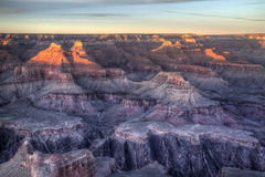 Tramonto del Grand Canyon Fotografie Stock