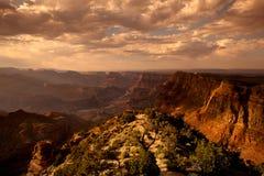 Tramonto del grande canyon Immagini Stock Libere da Diritti