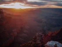 Tramonto del grande canyon Immagine Stock
