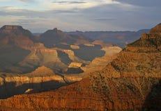 Tramonto del grande canyon in secondo luogo Immagine Stock Libera da Diritti