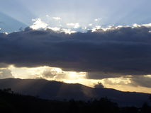 Tramonto del Guatemala Fotografia Stock