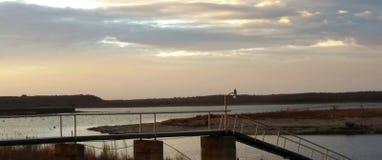 Tramonto del lago Immagine Stock Libera da Diritti