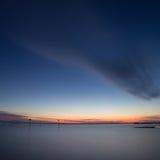 Tramonto del lago di Costanza Fotografie Stock