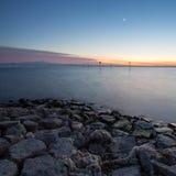 Tramonto del lago di Costanza Fotografia Stock Libera da Diritti