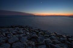 Tramonto del lago di Costanza Fotografie Stock Libere da Diritti
