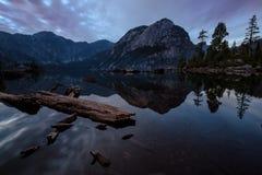 Tramonto del lago widgeon Fotografia Stock