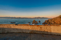 Tramonto del Land's End Fotografie Stock