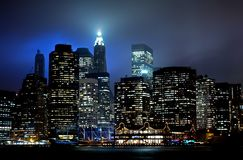 Tramonto del Lower Manhattan Fotografie Stock