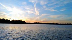 Tramonto del Mar Baltico immagine stock libera da diritti